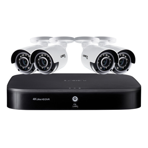 4K HD 8-Ch 2TB DVR w/4 4K Ultra HD Color NV Bullet Cameras
