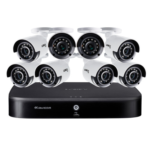 4K Ultra HD 16-Ch DVR and Eight 4K Ultra HD Cameras