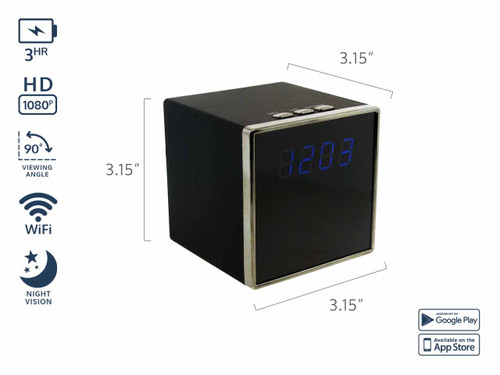 HD Digital Clock WiFi Hidden Camera