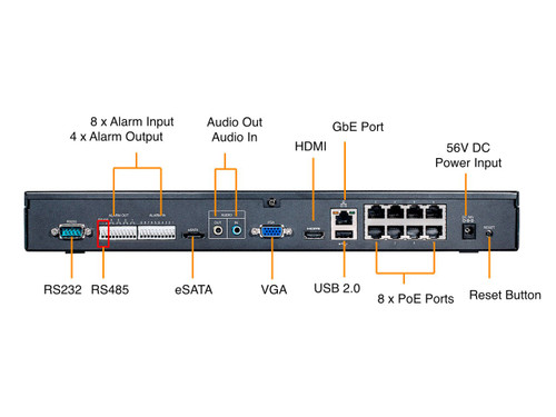 Vivotek 16CH Embedded Plug & Play NVR