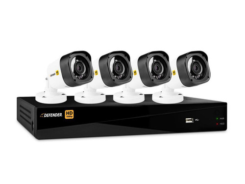 Defender 4 Channel DVR with 4 Bullet Cameras