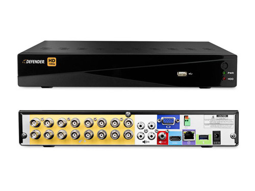 Defender 16 Channel DVR Featuring 16 HD Cameras