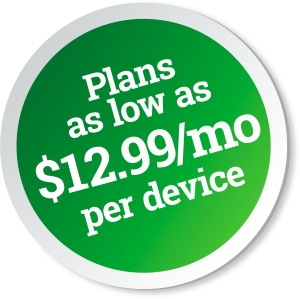 Plans as low as $14.00 per month per device