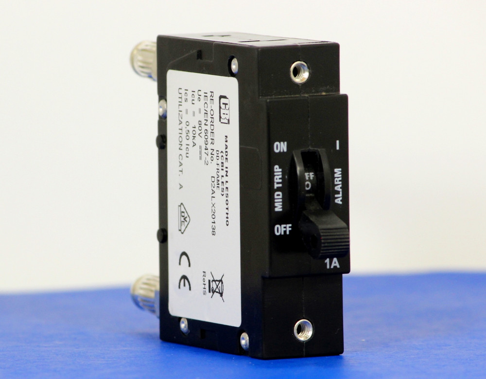 D2ALX20138 (1 Pole, 1A, 80VDC, Plug-In Terminals, Series Mid-Trip w/alarm, UL Listed (UL 489))