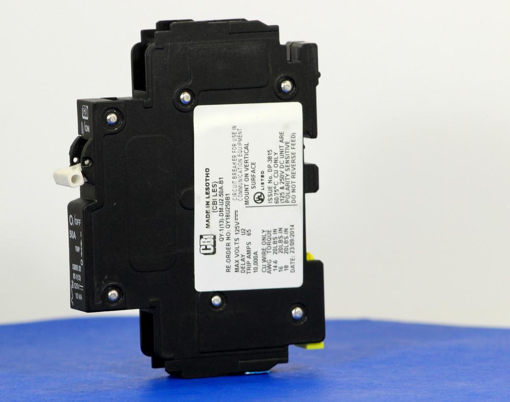 QY18U250B1 (1 Pole, 50A, 125VDC, UL Listed (UL 489))