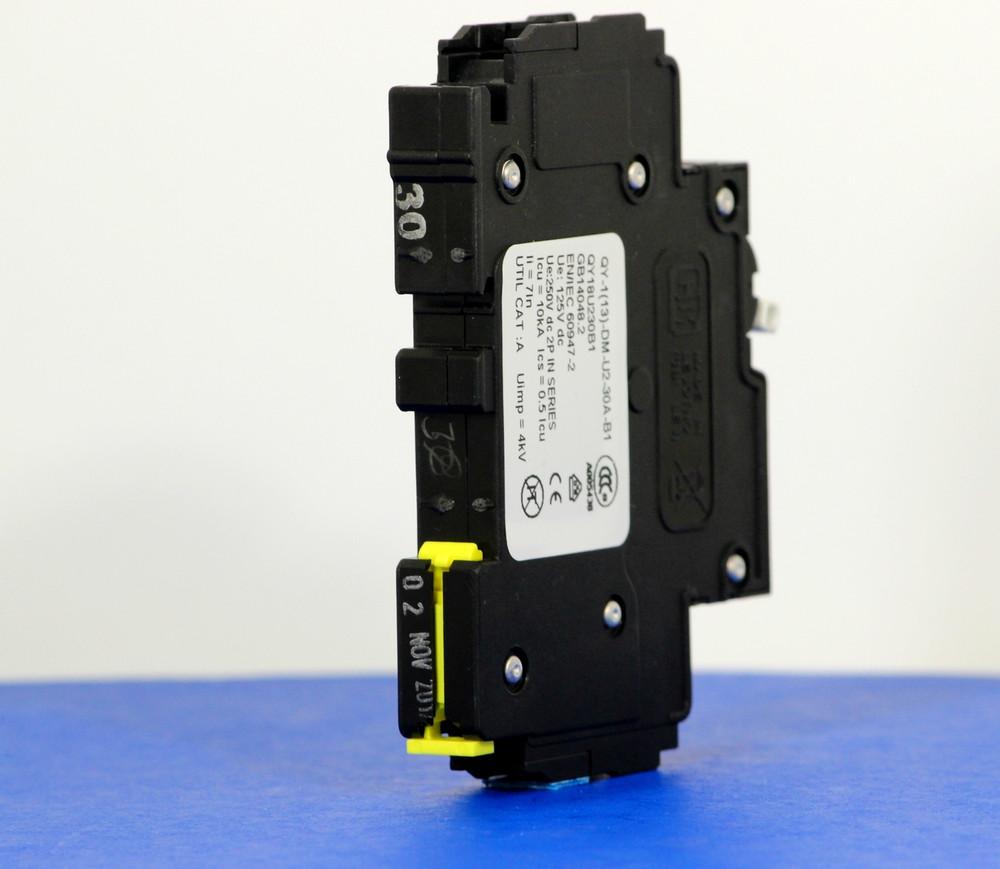 QY18U230B1 (1 Pole, 30A, 125VDC, UL Listed (UL 489))