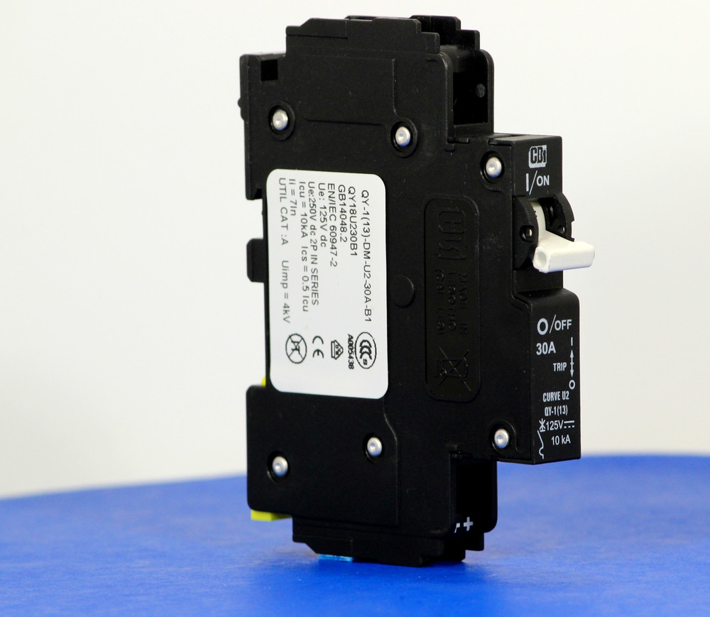 QY18U230B1 (1 Pole, 30A, 125VDC, UL Listed (UL 489))