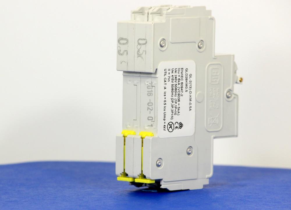 QLD28KM0.5 (2 Pole, 0.5A, 120/240VAC; 240VAC, UL Listed (UL 489))