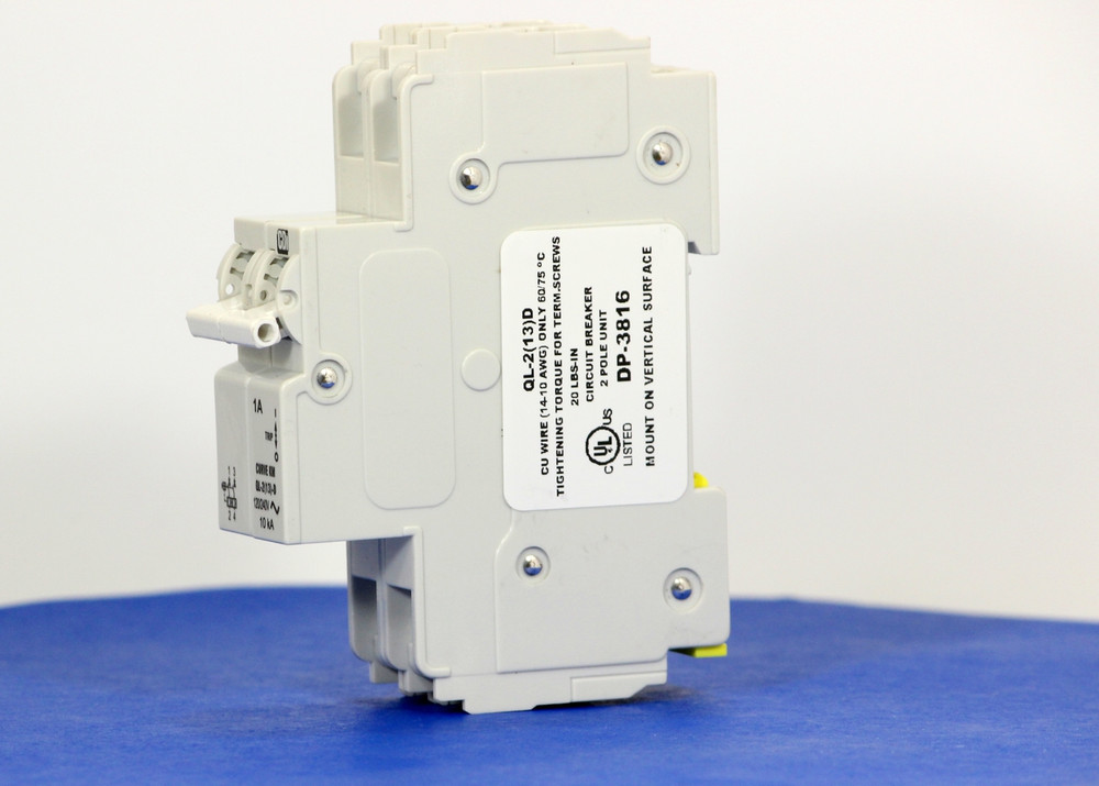 QLD28KM01 (2 Pole, 1A, 120/240VAC; 240VAC, UL Listed (UL 489))