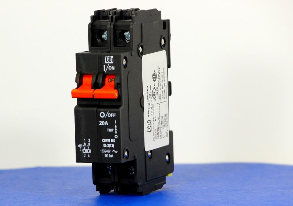 QL29MS20 (2 Pole, 20A, 120/240VAC; 240VAC, UL Listed (UL 489))