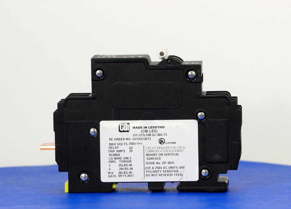 QY29U230T3 (2 Pole, 30A, 250VDC, UL Listed (UL 489))