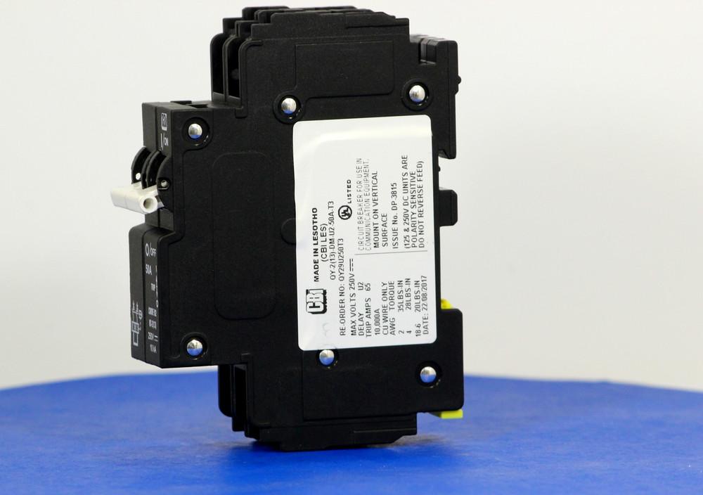 QY29U250T3 (2 Pole, 50A, 250VDC, UL Listed (UL 489))