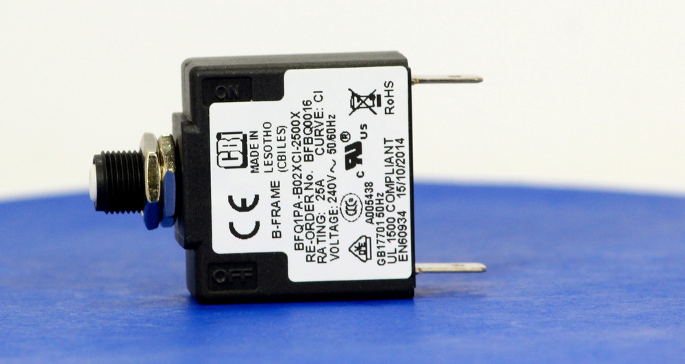 BFBQ0016 (1 Pole, 25A, 240VAC, Quick Connect, Series Trip, UL Recognized (UL 1077))