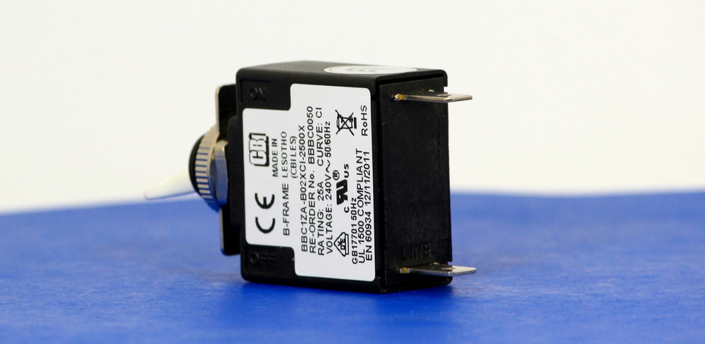 BBBC0050 (1 Pole, 25A, 240VAC, Quick Connect, Series Trip, UL Recognized (UL 1077))