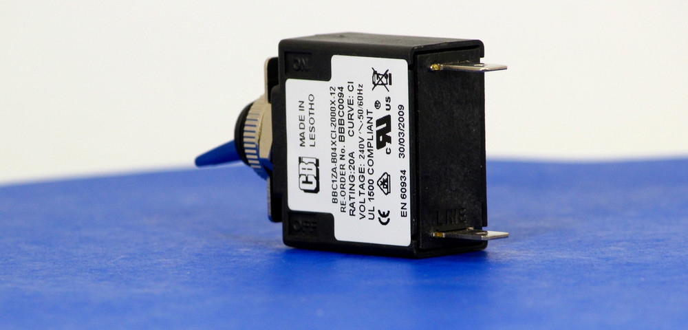 BBBC0094 (1 Pole, 20A, 240VAC, Quick Connect, Series Trip, UL Recognized (UL 1077))