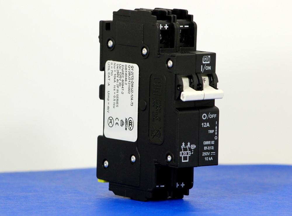 QY29U212X002 (2 Pole, 12A, 250VDC, UL Listed (UL 489))