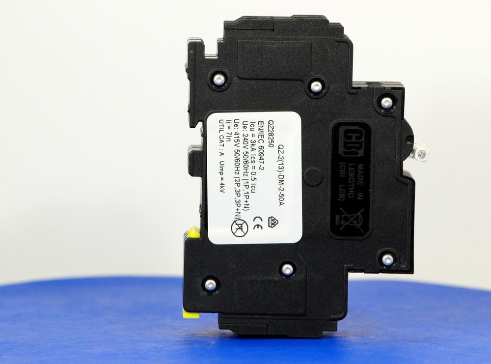 QZ28250 (2 Pole, 50A, 277/480VAC, UL Recognized (UL 1077))