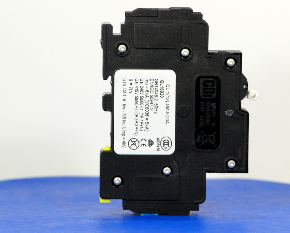 QL18920 (1 Pole, 20A, 120VAC; 240VAC, UL Listed (UL 489))