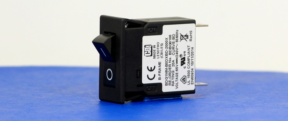 BDBG0186 (1 Pole, 20A, 65VDC/240VAC, Quick Connect, Series Trip, UL Recognized (UL 1077))
