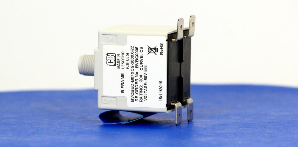 BVBQ0005 (2 Pole, 30A, 65VAC, Quick Connect, Series Trip