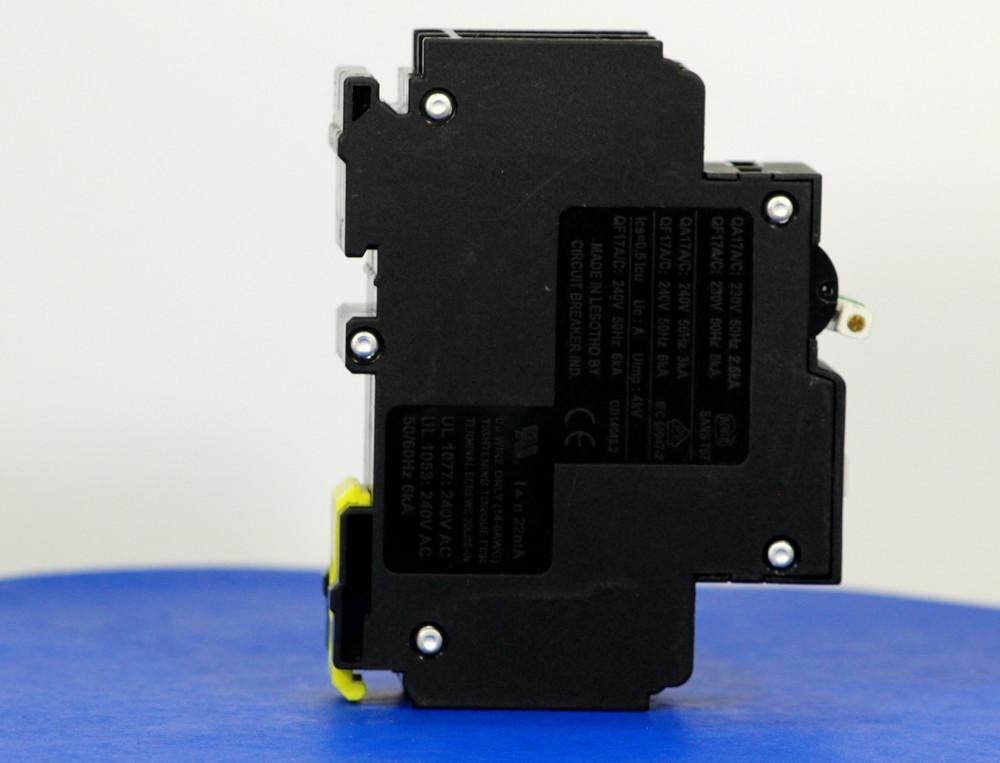 QF17A40 (1 Pole + Neutral, 40A, 240VAC, UL 1053, GFI/ Earth Leakage)