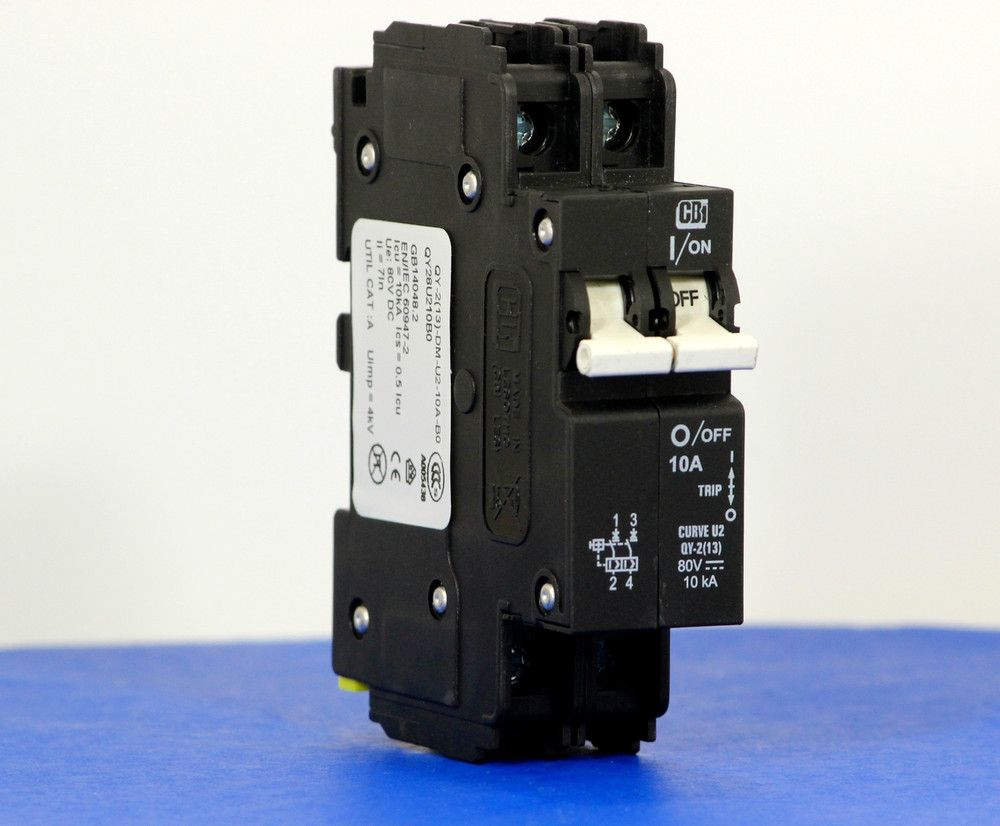 QY28U210B0 (2 Pole, 10A, 80VDC, UL Listed (UL 489))