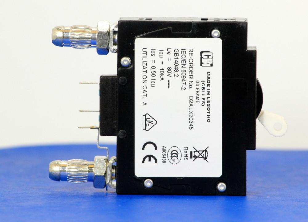 D2ALX20345 (1 Pole, 20A, 80VDC, Plug-In Terminals, Series Mid-Trip w/alarm, UL Listed (UL 489))