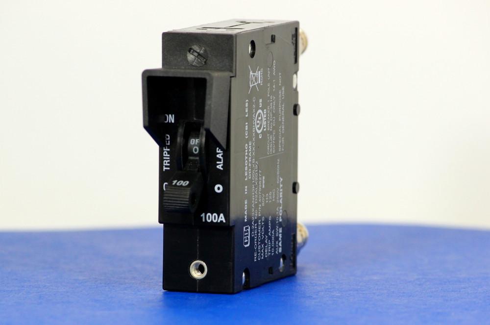 D2ALX20192 (1 Pole, 100A, 80VDC, Plug-In Terminals, Series Mid-Trip w/alarm, UL Listed (UL 489))