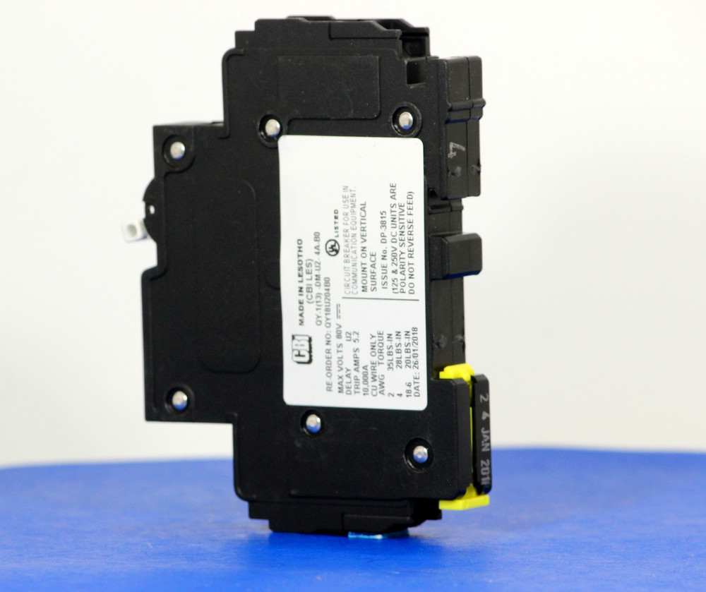 QY18U204B0 (1 Pole, 4A, 80VDC, UL Listed (UL 489))