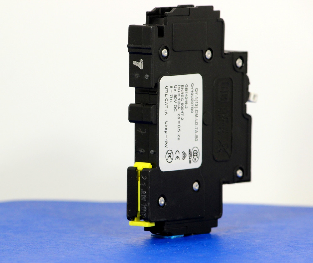 QY19U207B0 (1 Pole, 7A, 80VDC, UL Listed (UL 489))