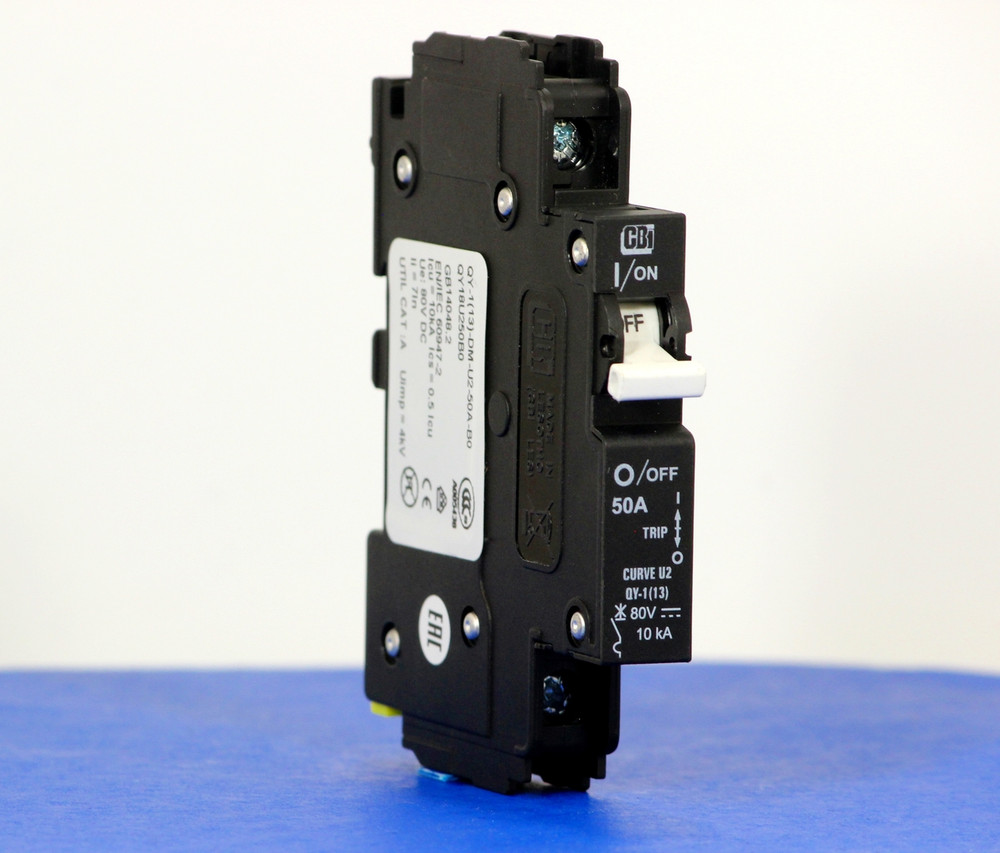 QY18U250B0 (1 Pole, 50A, 80VDC, UL Listed (UL 489))