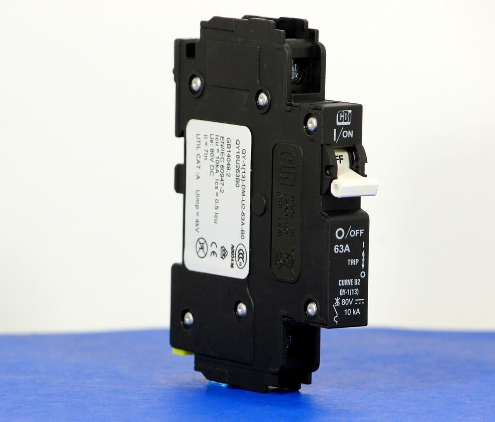 QY18U263B0 (1 Pole, 63A, 80VDC, UL Listed (UL 489))