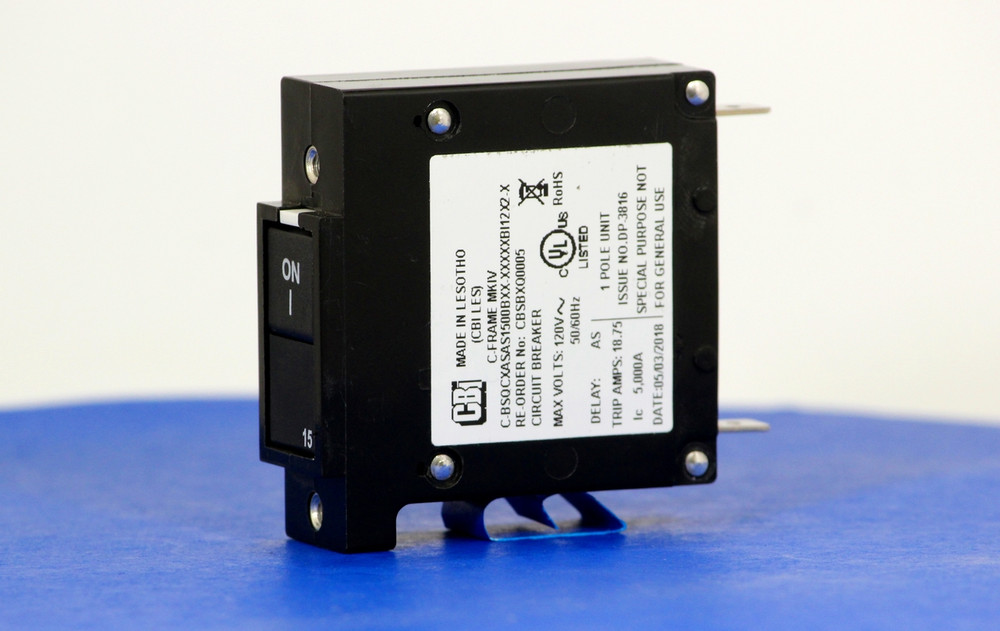 CBSBXQ0005 (1 Pole, 15A,  120VAC, Quick Connect Terminal, Series Trip, UL Listed (UL 489))