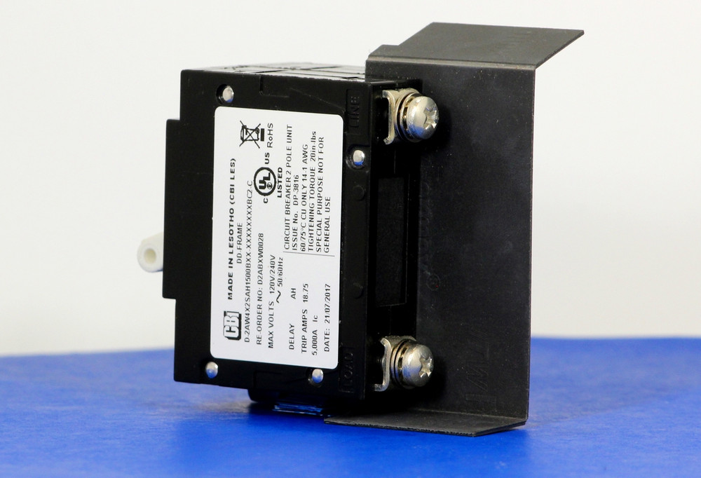 D2ABXW0028 (2 Pole, 15A, 120/240VAC, Screw Terminals, Series Trip, UL Listed (UL 489))