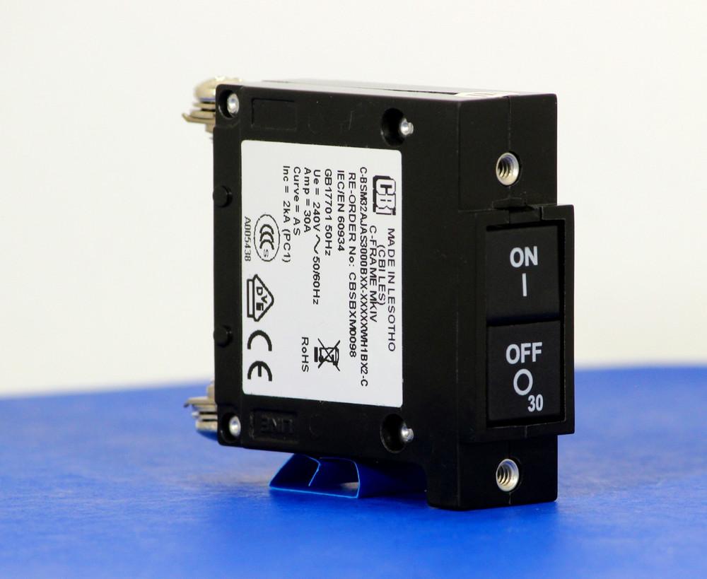CBSBXM0098 (1 Pole, 30A, 240VAC, Screw Terminal, Series Trip, UL Listed (UL 489))