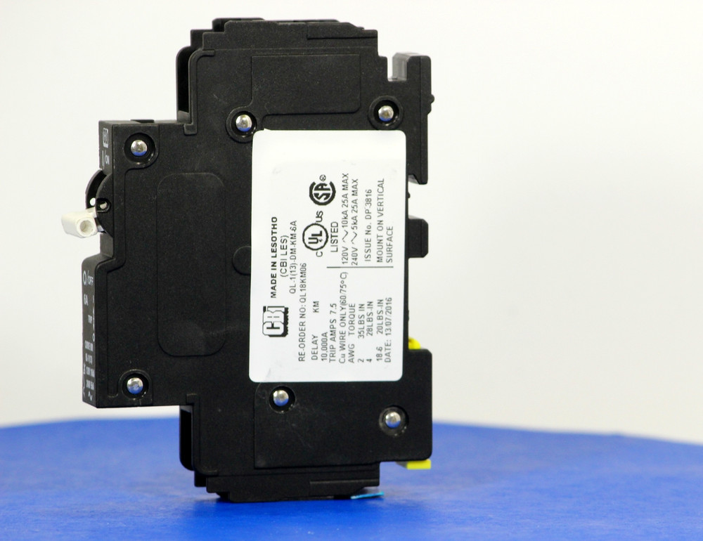 QL18KM06 (1 Pole, 6A, 120VAC; 240VAC, UL Listed (UL 489))