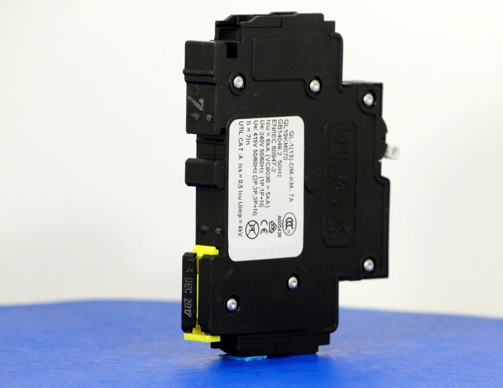 QL19KM070 (1 Pole, 7A, 120VAC; 240VAC, UL Listed (UL 489))