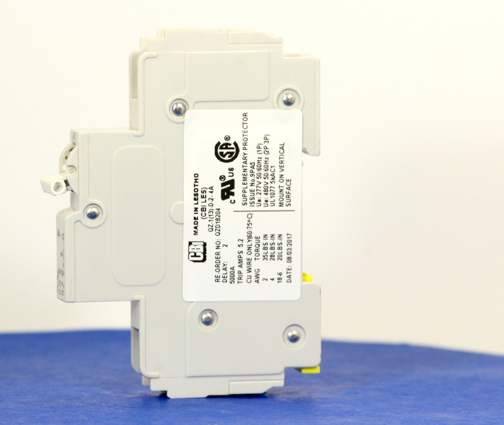 QZD18204 (1 Pole, 4A, 277VAC, UL Recognized (UL 1077))