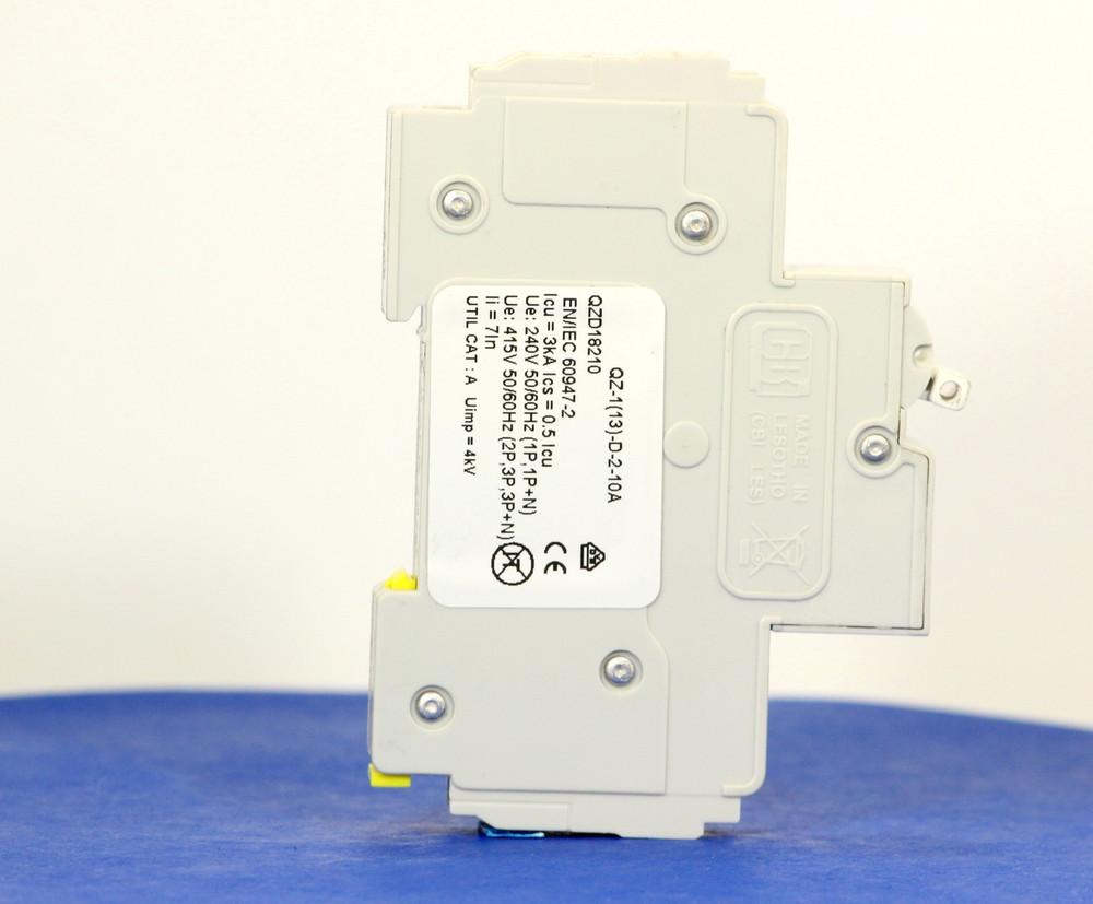 QZD18210 (1 Pole, 10A, 277VAC, UL Recognized (UL 1077))