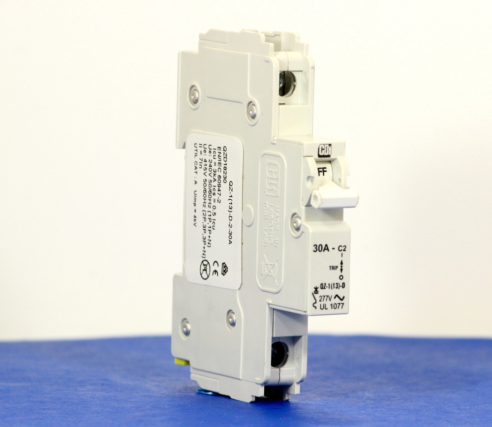 QZD18230 (1 Pole, 30A, 277VAC, UL Recognized (UL 1077))