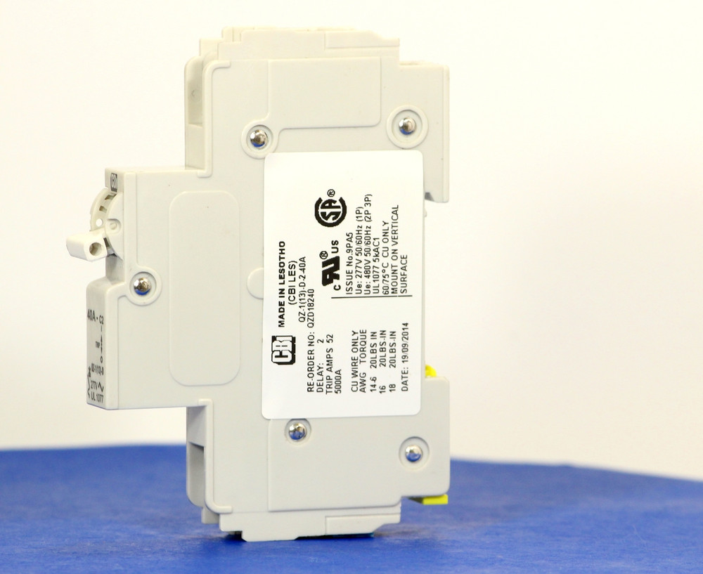 QZD18240 (1 Pole, 40A, 277VAC, UL Recognized (UL 1077))