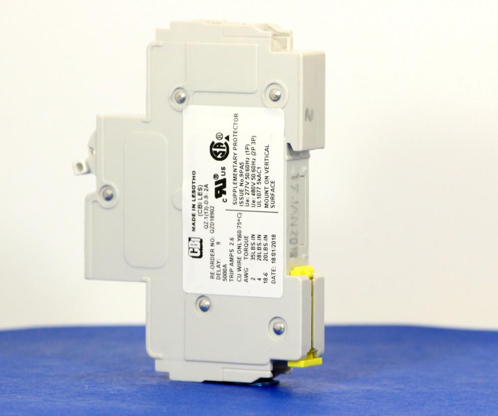 QZD18902 (1 Pole, 2A, 277VAC, UL Recognized (UL 1077))