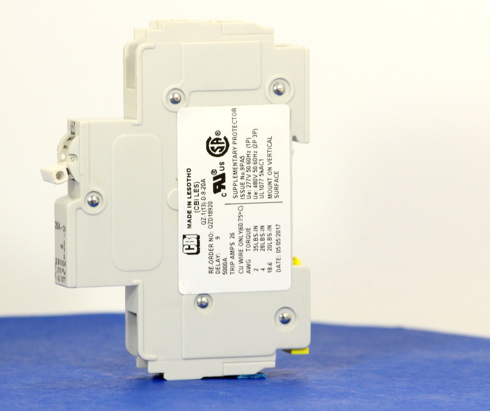 QZD18920 (1 Pole, 20A, 277VAC, UL Recognized (UL 1077))