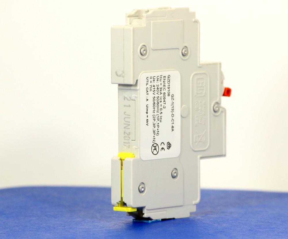 QZD19108 (1 Pole, 8A, 277VAC, UL Recognized (UL 1077))