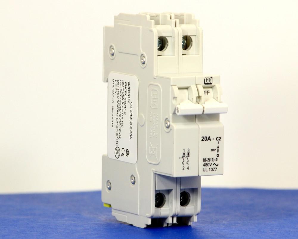 QZD28220 (2 Pole, 20A, 277/480VAC, UL Recognized (UL 1077))