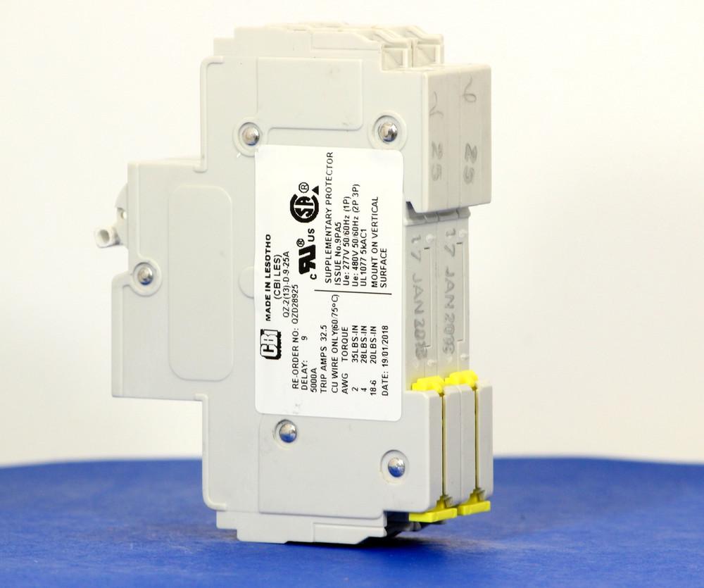 QZD28925 (2 Pole, 25A, 277/480VAC, UL Recognized (UL 1077))
