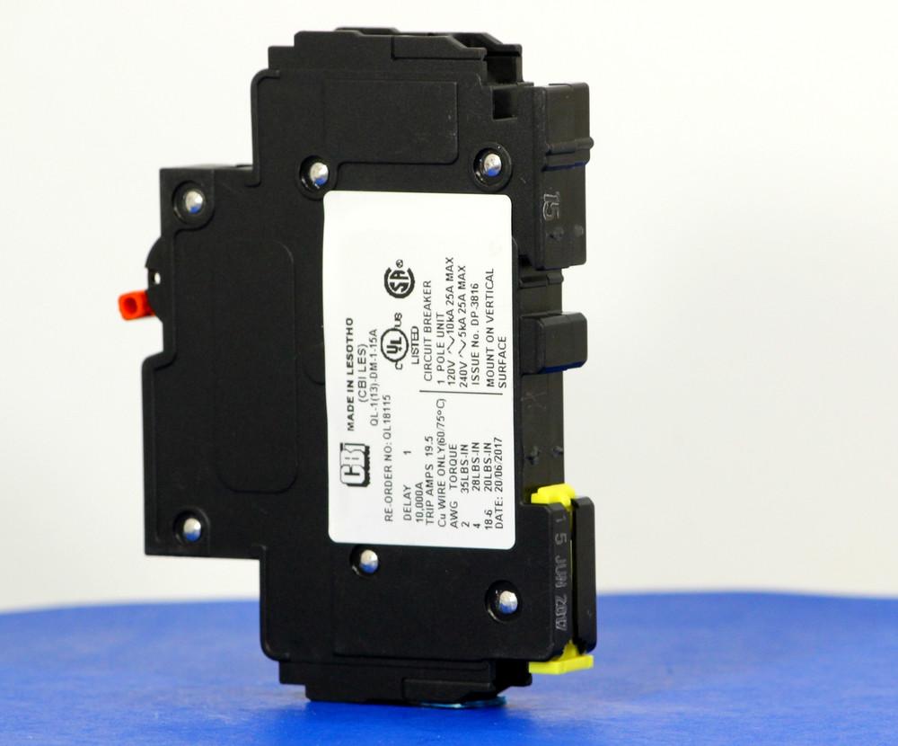QL18115 (1 Pole, 15A, 120VAC; 240VAC, UL Listed (UL 489))