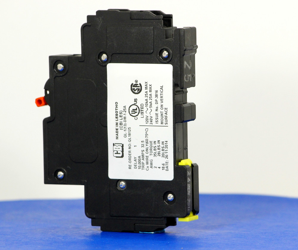 QL18125 (1 Pole, 25A, 120VAC; 240VAC, UL Listed (UL 489))