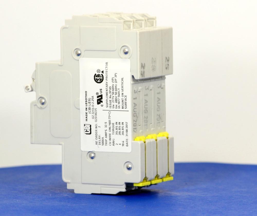 QZD38225 (3 Pole, 25A, 277/480VAC, UL Recognized (UL 1077))