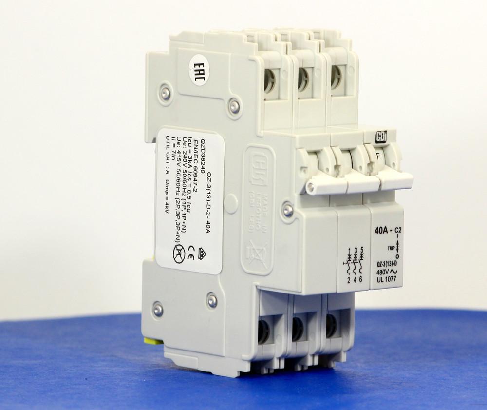 QZD38240 (3 Pole, 40A, 277/480VAC, UL Recognized (UL 1077))